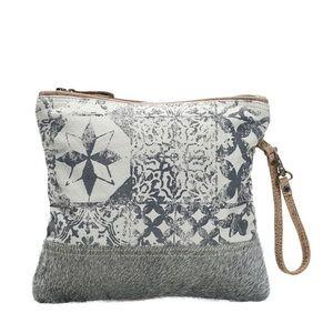 Myra Bag Multi Boho Print Small Clutch Zip Bag